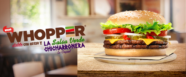 WHOPPER® DOBLE QUESO CHICHARRONERA